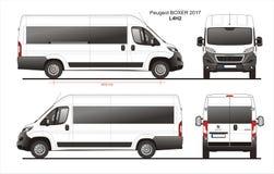 Modèle L4H2 de Van de passager de boxeur de Peugeot 2017 Photos libres de droits