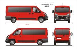 Modèle L2H1 de Van de passager de Fiat Ducato 2017 Images libres de droits