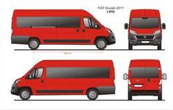 Modèle L4H2 de Van de passager de Fiat Ducato 2017 Image libre de droits