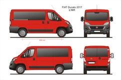 Modèle L1H1 de Van de passager de Fiat Ducato 2017 Photos libres de droits