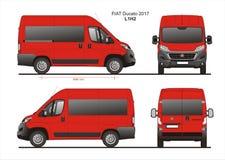 Modèle L1H2 de Van de passager de Fiat Ducato 2017 Image stock