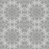 Modèle linéaire ornemental Illustration détaillée de vecteur Texture noire et blanche sans couture Élément de conception de manda Photo stock