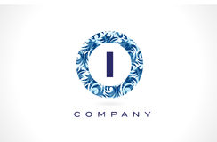 Modèle Logo Design de bleu de la lettre I illustration de vecteur