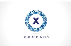 Modèle Logo Design de bleu de la lettre X Images libres de droits