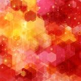 Modèle lumineux d'hexagone pour votre conception. Photographie stock libre de droits