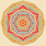 Modèle lumineux géométrique ethnique illustration stock
