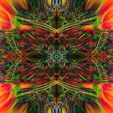 Modèle lumineux multicolore de résumé avec des fractales illustration libre de droits