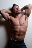 Modèle mâle de forme physique Images stock