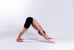 Modèle mâle de yoga Images stock