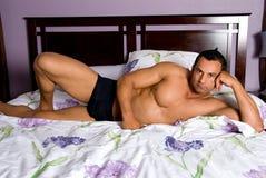 Modèle mâle sexy photo libre de droits