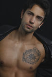 Modèle mâle sexy Photos libres de droits