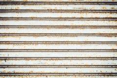 Modèle métallique de porte industrielle photos stock