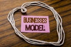 Modèle manuscrit d'affaires d'apparence des textes Concept d'affaires pour le projet pour des affaires écrites sur le papier de n Photo stock
