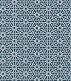 Modèle marocain islamique sans couture Ornement géométrique arabe Texture musulmane Vintage répétant le fond Bleu de vecteur Image libre de droits