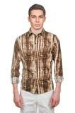 Modèle masculin avec la chemise Photographie stock