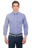 Modèle masculin avec la chemise Photos stock