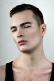 Modèle masculin de transpiration Photographie stock libre de droits