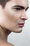 Modèle masculin de transpiration de beauté Images libres de droits