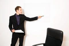 Modèle masculin habillé par affaires Image stock