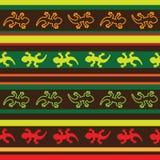 Modèle mexicain sans couture de tissu de lézard illustration stock