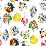 Modèle mignon de belles copies des feuilles Photo libre de droits
