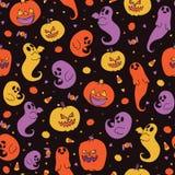 Modèle mignon de bonbons au maïs à Halloween illustration stock