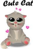 Modèle mignon de chat Images libres de droits