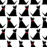modèle mignon de chiens Fond de vecteur Contexte urbain pour le textile illustration libre de droits