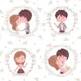 Modèle mignon de couples Images libres de droits