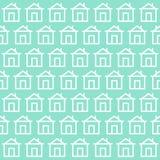 Modèle mignon de fond à la maison avec le contexte de conception Illus de vecteur illustration libre de droits
