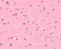 modèle mignon de partie d'étoile sur le rose Photographie stock