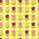 Modèle mignon de tulipes Photo stock