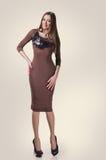 Modèle mince dans la robe sexy Photo stock