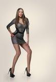 Modèle mince dans la robe sexy Photo libre de droits