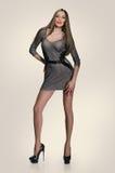 Modèle mince dans la robe sexy Photos stock