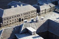 Modèle miniature de la ville du VCA, Hongrie Photographie stock libre de droits