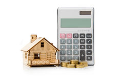 Calculatrice de prêt immobilier Image stock