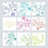 Modèle moderne abstrait réglé des circuits d'hexagones illustration de vecteur