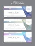 Modèle moderne de calibre de bon de cadeau Calibre de Tableau d'évaluation avec le type de trois plans Conception graphique sur G Photos libres de droits