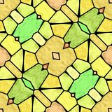 Modèle moderne jaune et vert de kaléidoscope, fond abstrait sans couture Illustration de Vecteur