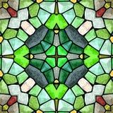 Modèle moderne jaune et vert de kaléidoscope, fond abstrait sans couture Illustration Libre de Droits