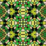 Modèle moderne jaune et vert de kaléidoscope, fond abstrait sans couture Illustration Stock