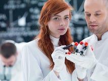 Modèle moléculaire citrique acide Photos libres de droits