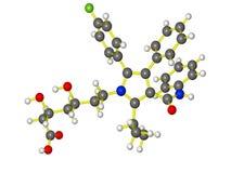 Modèle moléculaire de lipitor Photographie stock libre de droits