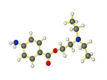 Modèle moléculaire de novocaine Photographie stock