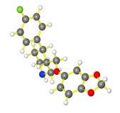 Modèle moléculaire de paroxetine Photographie stock libre de droits