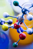 Modèle moléculaire - laboratoire Images libres de droits