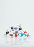 Modèle moléculaire tridimensionnel multicolore Images libres de droits