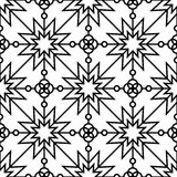 modèle monochrome géométrique sans couture Photographie stock