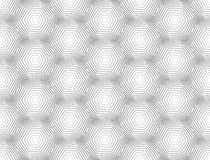 Modèle monochrome sans couture d'hexagone de conception Photos libres de droits